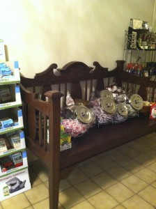 The Candy Bench full of lollipops …