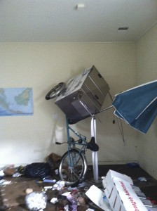When the waters receded, this is how we found the Bicycle Ice Cream Cart